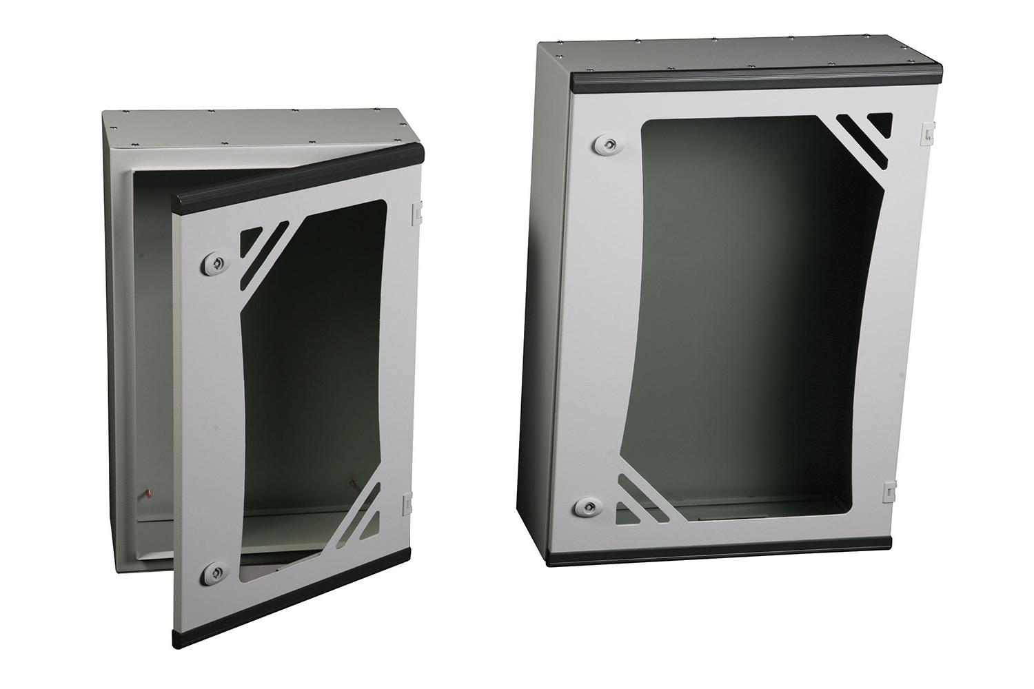 ARES Series WALL MOUNTED ENCLOSURES - GLAZED DOOR, WITHOUT MOUNTING PLATE